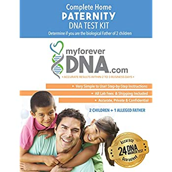 Image of DNA Paternity Test Kit (2 Children + 1 Alleged Father) 24 DNA (Genetic) Marker Test Offered by My Forever DNA Clinical Diagnostic Test Kits