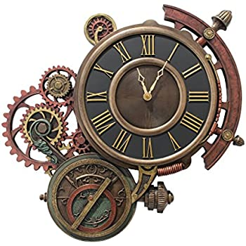 Amazon Com Cool 3 D Steampunk Wall Clock Steam Punk Sci