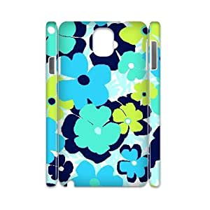 Blue Flowers Custom 3D Cover Case for Samsung Galaxy Note 3 N9000,diy phone case ygtg613054