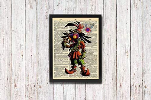 (Legend of Zelda Skull Kid Majora's Mask Link Dictionary Art)
