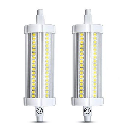 Luxvista 15W R7S LED J118 118mm No Regulable Bombilla, 1500 Lúmenes, 360 Grados, para lámpara de pie, lámpara de techo, plafones, 130-150W Hálogena ...