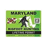 fagraphix Maryland Bigfoot Hunting Permit Sticker Die Cut Decal Sasquatch Lifetime FA Vinyl - 4.00 Wide