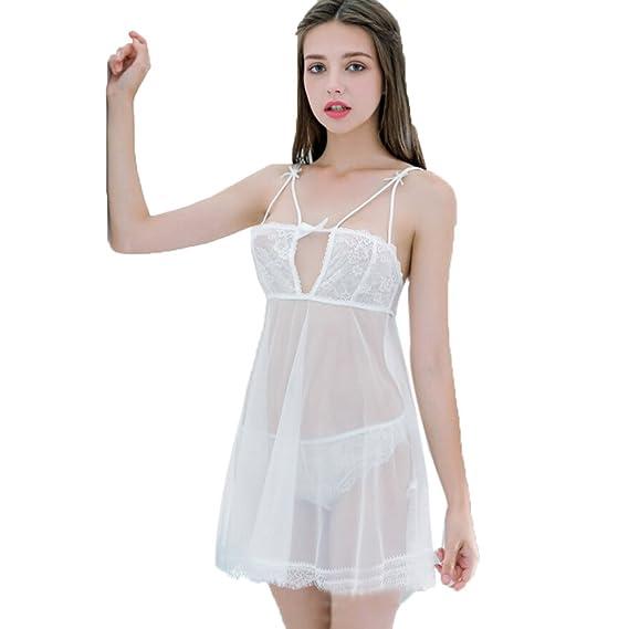 Rcool Camisones Batas y Kimonos Camisones Mujer Camisones Verano Camisones Tallas Grandes Mujer, Lencería Sexy Mujer Pijama cordón Correa Tanga: Amazon.es: ...