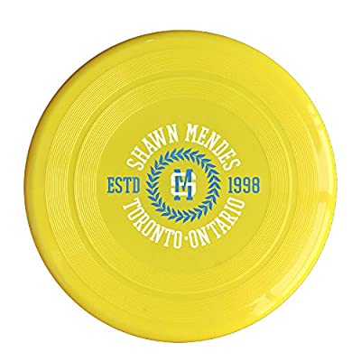 Plastic Sport Shawn Mendes Logo Flying Discs Yellow 150g