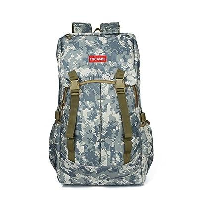 camouflage Nylon Backpack waterproof Scratch hiking bags 54Hx33Lx24W (CM) (blue)