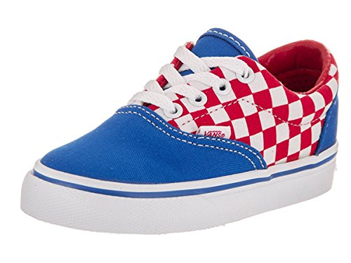 Vans Toddlers Era (Checkerboard) Racing Red Skate Shoe 8 Infants (Era Checkerboard)