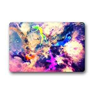 Dance In The Galaxy Background Doormat/Gate Pad for outdoor,indoor,bathroom use!23.6inch(L) x 15.7inch(W)