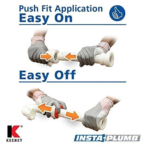 "Keeney Manufacturing Insta-Plumb 95QLK PVC Marvel Trap Adapter 1 /½/"" Push Fit White"