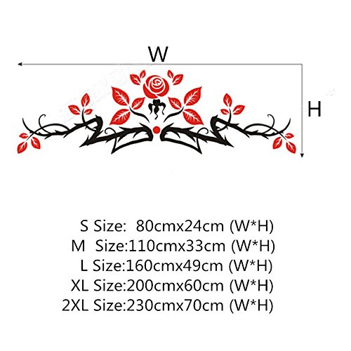 Alrens(TM)Luxury Rose Flowers Acrylic Crystal 3D Stereoscopic Wall Stickers Living Room Dinging Room Décor Art Removable Home Decoration Creative Mural Decal by Alrens (Image #2)