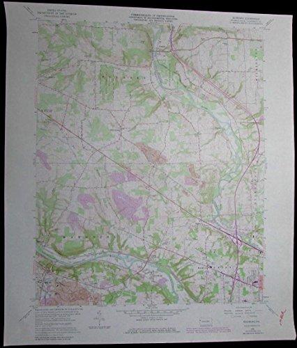 Edinburg Pennsylvania Mahoning River Shenango River vintage 1979 USGS Topo chart