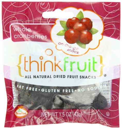 Thinkfruit Whole Cranberry, 1.5 Ounce (Pack of 10)