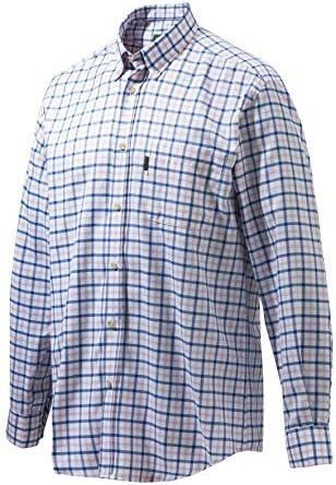 Beretta LU321 - Camisa clásica de cuadros blancos, azul y rosa: Amazon.es: Ropa y accesorios