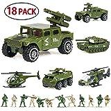 18 Pack Die-cast Military Vehicles Sets,6 Pack