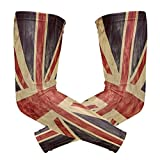 ShineSnow United Kingdom Or Union Jack Grunge Flag1 Pair Sports Cooling Sun Protection Compression Arm Sleeves, Unisex Youth Adult Baseball Basketball Golf Tennis Running Cooler 2 pieces