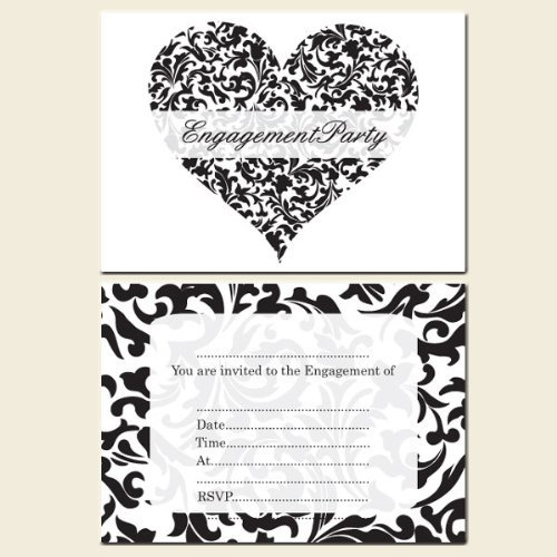 Engagement Party Invitations PostcardDiamondsPack of 10 Amazon – Engagement Party Invitations Uk