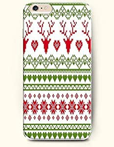 SevenArc Authentic Cases for iPhone 6 Plus (5.5inch) - Hard Back Plastic Case /Merry Christmas Xmas/ Green Red Christmas... by lolosakes