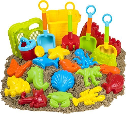 23pc Kids Beach Toys Set, Sandbox Toys; Sand Toys (Turtle Tikes Sandbox Little)