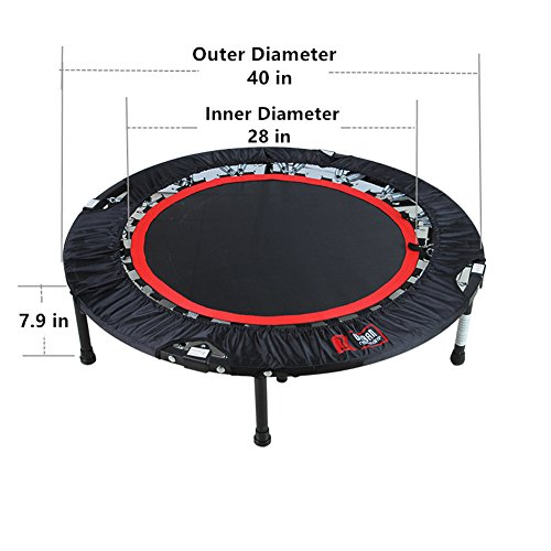 Brooke & Celine Professional Gym Fitness Trampoline 40-Inch Long Lasting Premium Stainless Spring Foldable Jump Exercise
