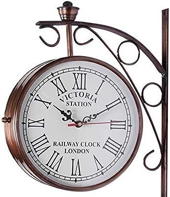 Amazon Com Black Dual Face Paddington Station Clock Home