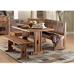 Sedona Breakfast Nook Set w/ Side Bench 4PC Set