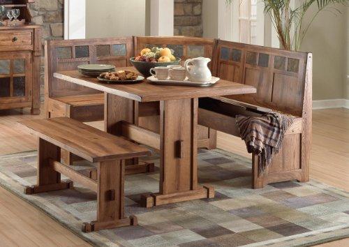 Sedona Breakfast Nook Set w/ Side Bench 4PC Set (Sets Breakfast Nooks)