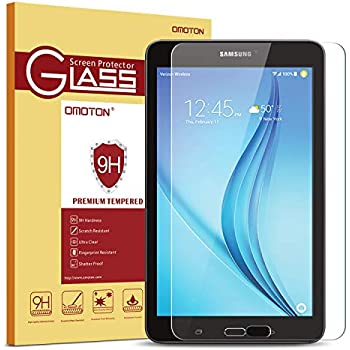 021d5269127 Samsung Galaxy Tab E 8.0 Screen Protector, OMOTON Tempered Glass, [9H  Hardness] [Clear] [Anti-Scratch] [Easy Installation] for Samsung Galaxy Tab  E 8.0 inch