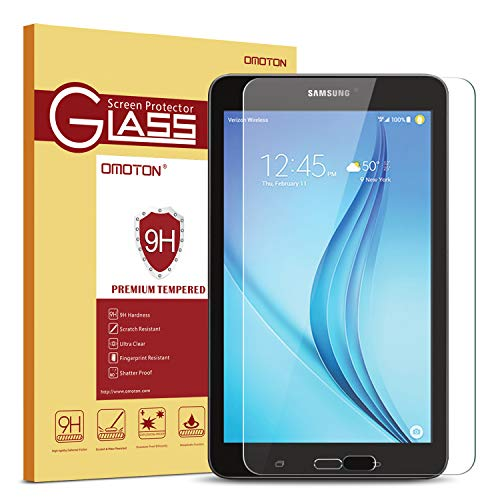 Samsung Galaxy Tab E 8.0 Screen Protector, OMOTON Tempered Glass, [9H Hardness] [Clear] [Anti-Scratch] [Easy Installation] for Samsung Galaxy Tab E 8.0 inch
