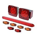 nissan murano ip - LED Truck Tail Stop Brake Running License Plate + Side Marker + 3rd Brake Light Bar