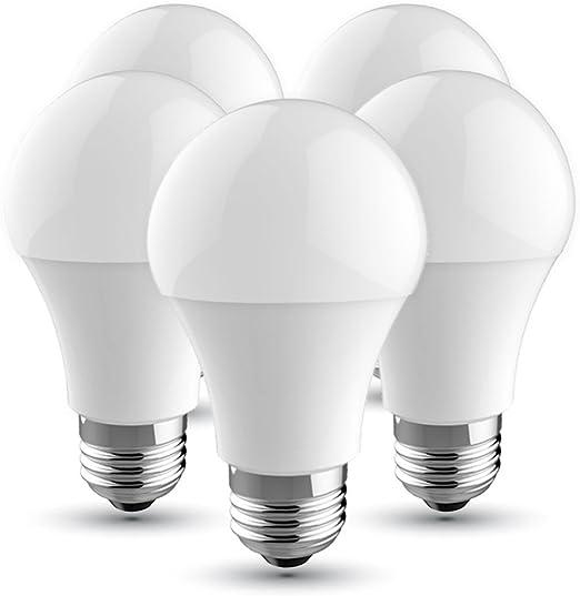 Maxi® Bombilla LED 5 Pack Bombillas LED G45 de 5 Watios Casquillo gordo E27 420 lúmenes Luz fría ahorro de energía bombillas de luz, LED luces para iluminación del hogar 6500K: Amazon.es: Iluminación