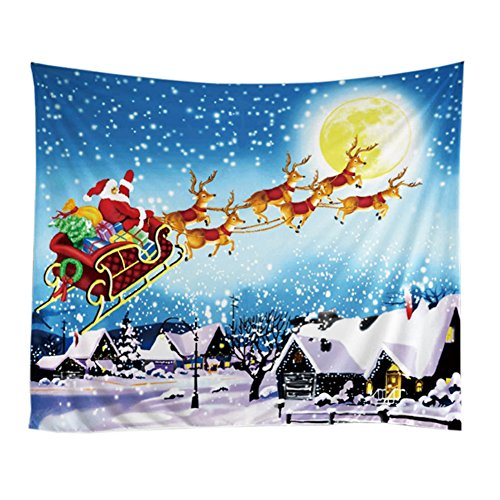 Snowman Wall Tapestry (Handfly 51x60inch Christmas Tapestry, Holidy Tapestry Wall Hanging,Dorm Decor snowman and Santa Claus Tapestry for Children)