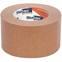 Shurtape FP 97 General Purpose Grade Flatback Kraft Paper Tape, 72mm x 55m, Kraft, Case of 16 Rolls (101073)