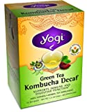 :Yogi Green Tea Kombucha Decaf 16 BAG, Pack of 5 (image may vary)