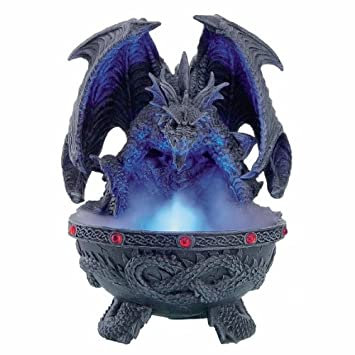 Deko Figur Brunnen Gothic Deko Drachen Nebler