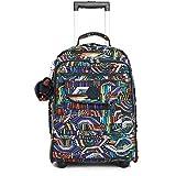 Kipling Women's Sanaa Large Printed Rolling Backpack One Size Graffiti Waves