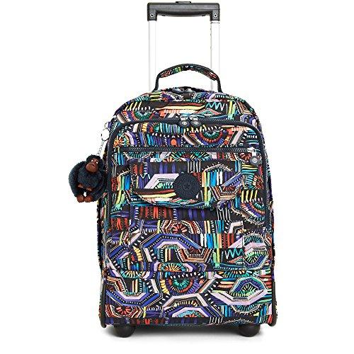 Kipling Women's Sanaa Large Printed Rolling Backpack One Size Graffiti Waves by Kipling