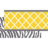 Teacher Created Resources Wild Moroccan Double-Sided Border, Lemon and Gray (77094)