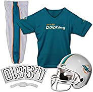 Franklin Sports NFL Miami Dolphins Deluxe Youth Uniform Set, Medium
