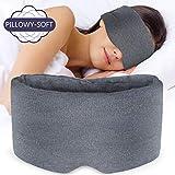 Sysrion Sleep Eye Mask - Ultra Soft Comfortable Sleeping Mask for for Home Sleep Travel Shift Work, Nose Pad Designed Light Blocking Eye Blinder, Fully Adjustable Strap and Skin Friendly