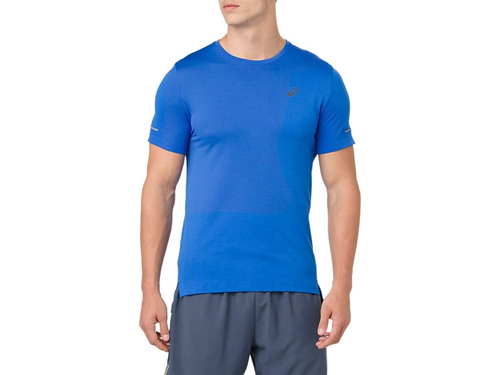 ASICS Men's Seamless Short Sleeve Top Running Clothes, S, Illusion Blue