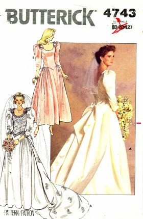 Amazon.com: Butterick 4743 Sewing Pattern Misses Wedding Brides ...