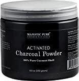 #3: Activated Charcoal Powder from Majestic Pure, from 100% Pure Coconut Shells, 8.8 oz