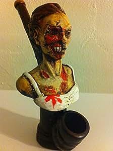 Handmade Tobacco Pipe, Zombie Girl Design
