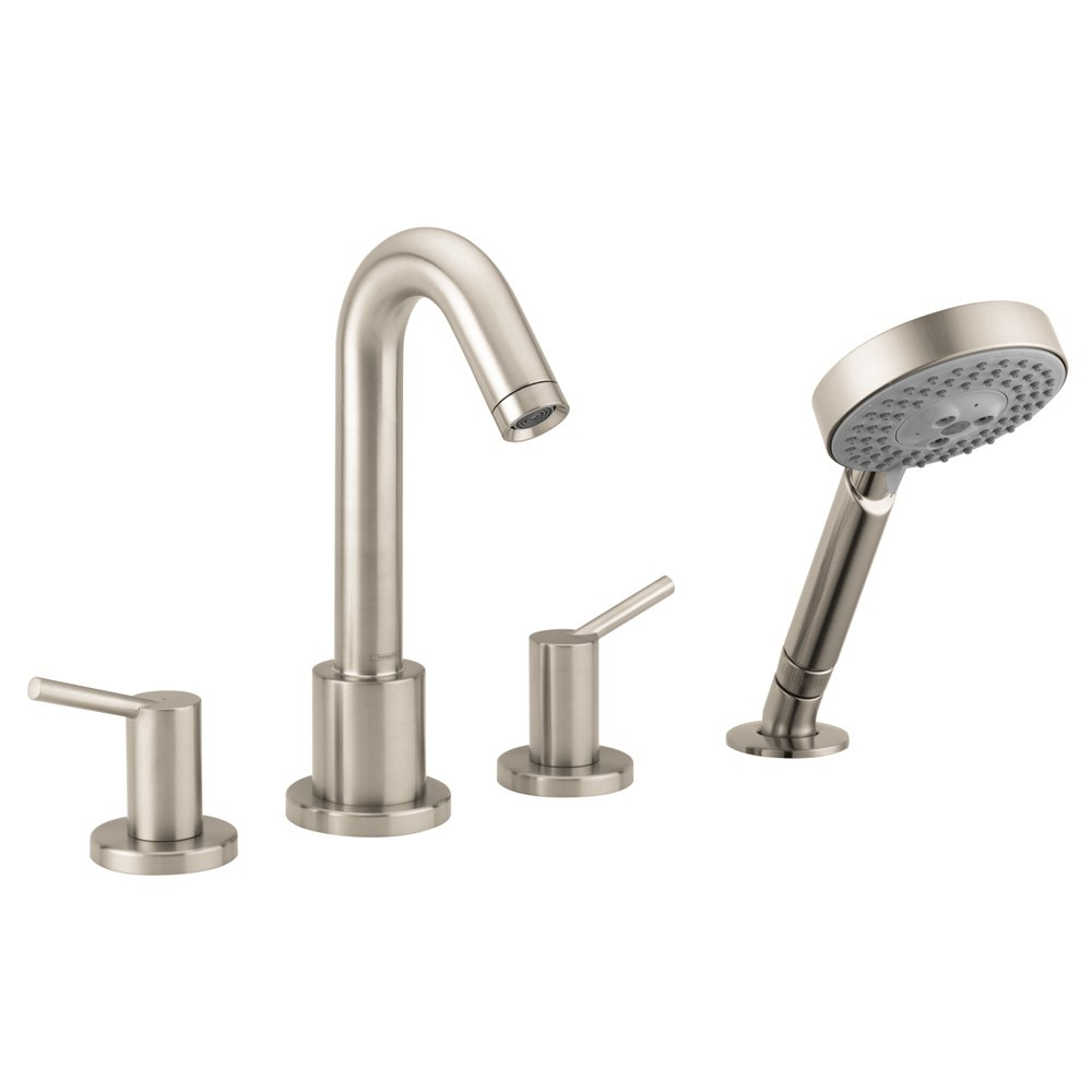 Hansgrohe 32314821 Talis S 4-Hole Roman Tub Set Trim, Brushed Nickel ...