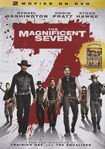The MAGNIFICENT SEVEN / SILVERADO- 2 Movie DVD Set (Both Movies) Denzel Washington, Chris Pratt, Ethan Hawk
