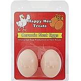 Happy Hen Treats Ceramic Nest Eggs, Brown