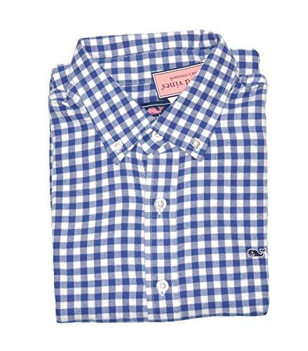 - Vineyard Vines Boys Cliff Flannel Gingham Long Sleeve Shirt (XL 18)