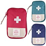 Lanticy First Aid Kit Medicine Bag, 3 Pack Waterproof Oxford Cloth Empty Pill Case Pocket Emergency Medical Kit Portable Survival Medicine Pouch Container for Home Car Travel Outdoor
