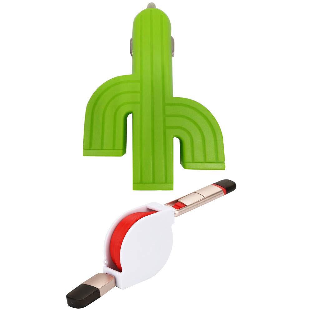 Amazon com: Car Charger HstoreTravel Home Green Cactus 3U