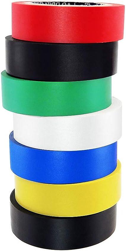 Nastro isolante elettrico in PVC 2 rotoli blu