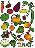 Gommettes Baby Fruits et Légumes 4 planches